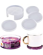 LET'S RESIN Coaster Resin Molds, Silicone Coaster Storage Box Mold, Epoxy Resin Molds for Resin, Cups Mats, HomeDecoration