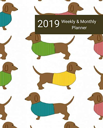 (2019 Weekly and Monthly Planner: Dachshund Puppies Daily Organizer -To Do -Calendar in Review/Monthly Calendar –Notes Volume 29)