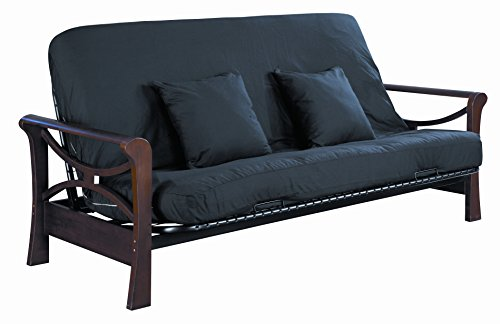 Serta Cypress Double Sided Innerspring Queen Futon Mattress, Black, Made in the USA
