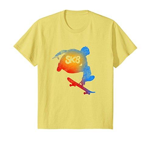 Kids Skateboarding Evolution T shirt Cool Sk8 Skater Tee Gifts 8 Lemon by Love Skateboard, Skater T shirts