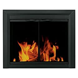 Pleasant Hearth CL-3000 Carlisle Fireplace Glass Door, Black by GHP Group -- Drop Ship Only