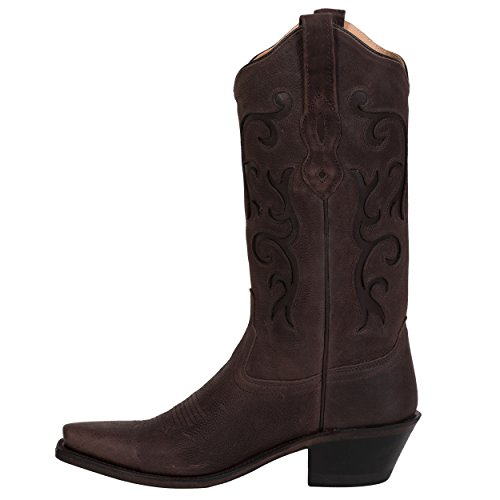 Brown Boot Old LF1578 Boots Women's West Tumbled 4ppqTIZwz