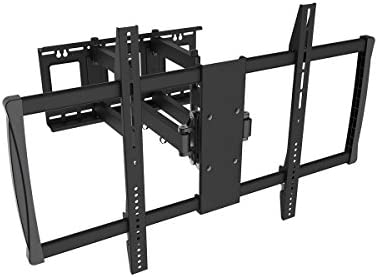 Black Full-Motion Tilt Swivel Wall Mount Bracket for Samsung UN75JU7100FXZA 75 inch 4K UHD HDTV TV Television – Articulating Tilting Swiveling