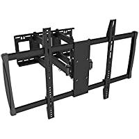 Black Full-Motion Tilt/Swivel Wall Mount Bracket for Samsung UN75JU7100FXZA 75 inch 4K UHD HDTV TV/Television - Articulating/Tilting/Swiveling
