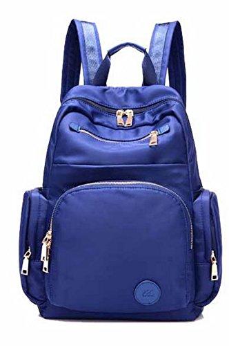 AgooLar Mujeres Mochilas Daypack Casual Cremalleras Mochilas para Portátil,GMXBB180783 Azul
