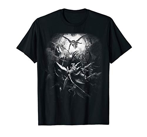 Dore T-shirt - Gustave Dore - Michael Casts out all of Fallen Angels 1866