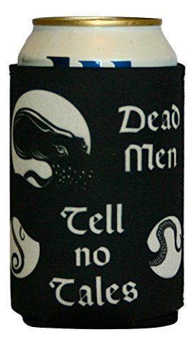 [Pirate Cozy, Dead Men Tell No Tales, Pirate Quotes, Tiki Bar Accessories, Alcohol Related Gifts] (Pepsi Costume Halloween)