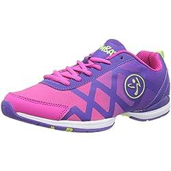 Zumba Women's Flex II Remix Dance Shoe, Purple/Bright Pink, 5 M US