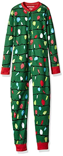 Little Blue House By Hatley Women's Big Kids Holiday Lights Family Union Suits, Kid's Union Suit-Holiday Lights, 12 (Christmas For Girls Onesie)