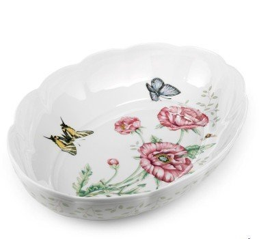Lenox 6084024 BUTTERFLY MDW DW SCALLOPED OVAL BAKER - Pack of 1