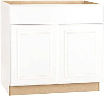 Continental Cabinets Kitchen Cabinets 2478260 Rsi Home Products Hamilton Ada Sink Base Cabinet Fully Assembled Raised Panel White 36x34 1 2x24 Amazon Com
