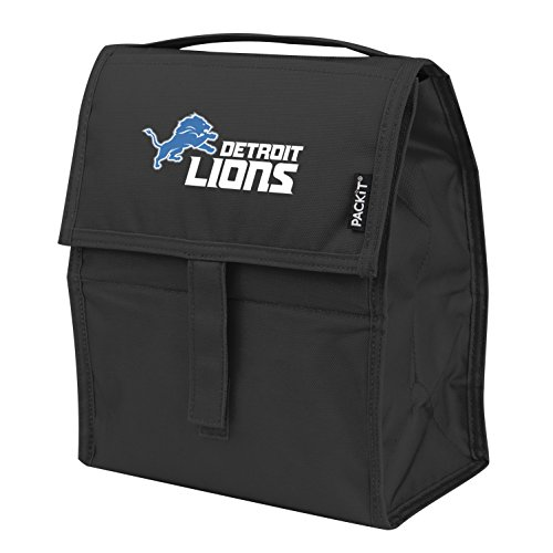Lunch Box Lions (Kolder Licensed Inc. NFL Detroit Lions Packit Freezable Lunch Bag)
