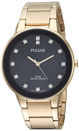 Pulsar-Mens-Quartz-Brass-and-Stainless-Steel-Casual-Watch-ColorGold-Toned-Model-PG2052