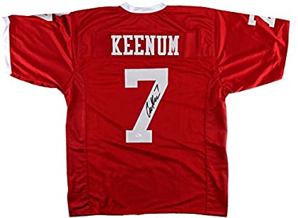 best cheap 502cd fdf95 Case Keenum Autographed/Signed Houston Red Custom Football ...