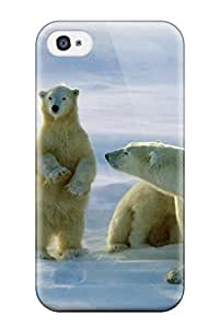 Tpu Fashionable Design Blue Bear Wallpaper Rugged Case Cover For Iphone 4/4s New by mcsharks