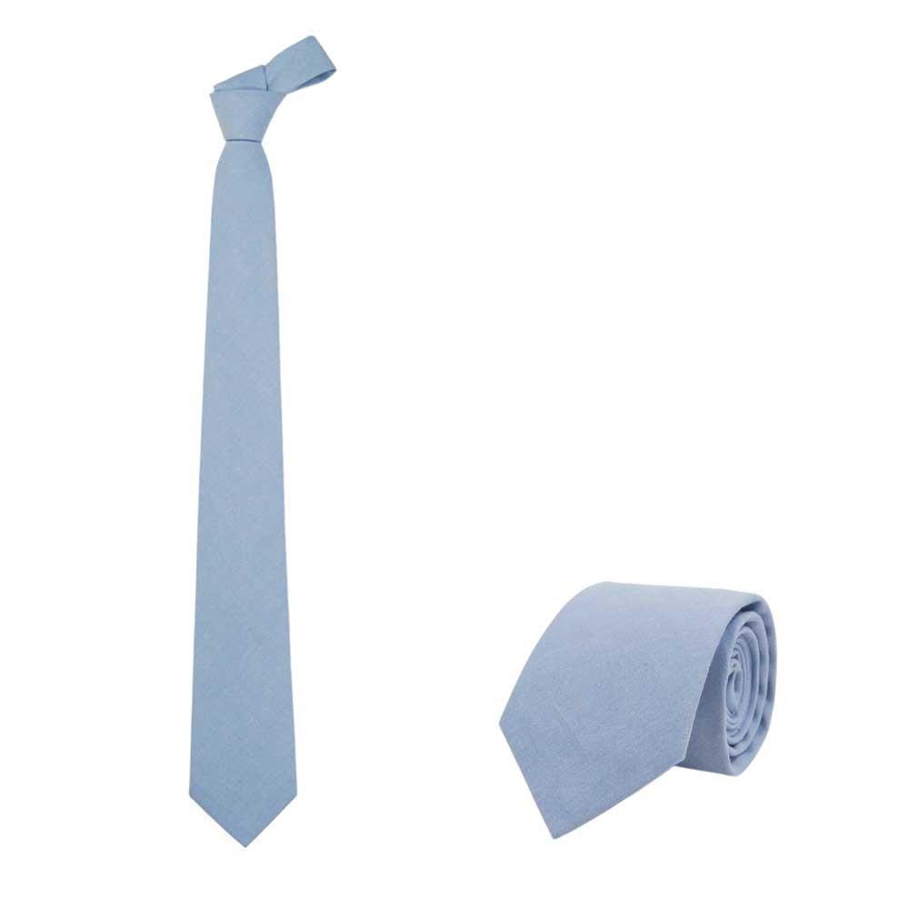 Jnjstella Men's Cotton Solid Necktie 3.15'' Tie Sky Blue