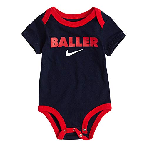 NIKE Children's Apparel Baby Graphic Bodysuit, Obsidian, 0/3M (Infant Boy Nike Clothing)