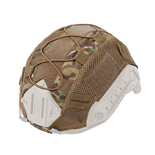 - IDOGEAR Tactical Helmet Cover Camouflage Cover for Fast Helmet in Size M/L Airsoft Paintball Hunting Shooting Gear 500D Nylon (A:Multicam)