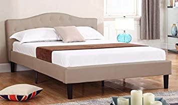 Divano In Memory Foam.Amazon Com Divano Roma Furniture Tall Size Upholstered Platform Frame And Tufted Panel Headboard With Mattress Foundation And Solid Wood Slat Bed Support Spring Needed Box Replacement Queen Ivory Furniture Decor