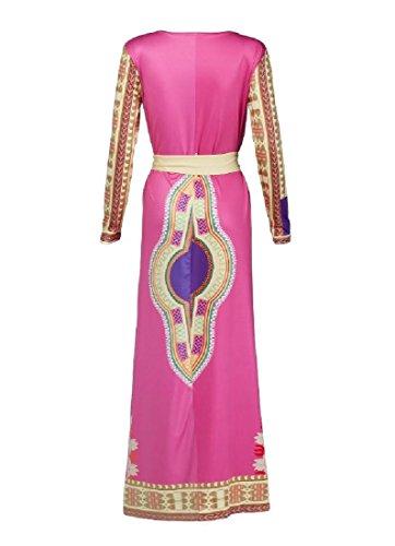Totem Coolred Vogue Out Waist Printed Dashiki Cut Dress Beach Women Maxi Picture As rWn4qpwr