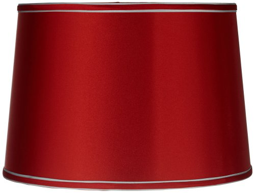 Sydnee Satin Red Drum Lamp Shade 14x16x11