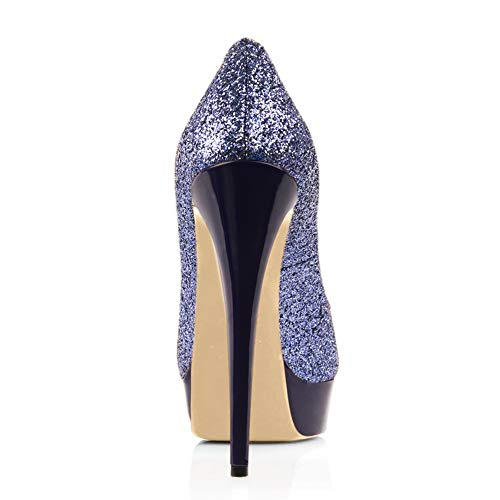 Toe Platform High Sexy Purple Women's Dress Heels Pumps Wedding Slip Party Shoes Peep Stiletto A On Onlymaker Tq8XEHq