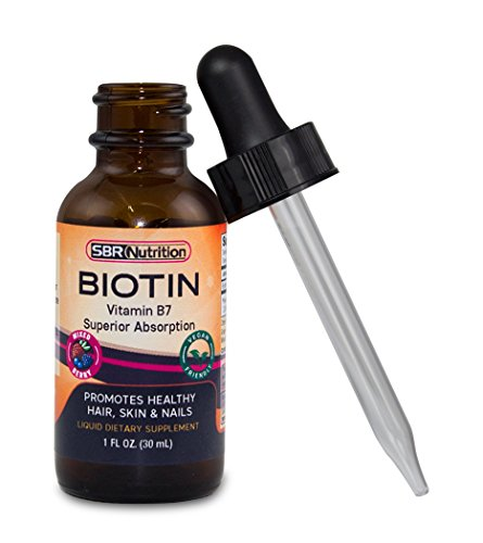 Biotin Liquid Drops, 5000mcg Biotin per Serving, 60 Serving, Mixed Berry Flavor, No Artificial Preservatives, Vegan Friendly, Supports Healthy Hair Growth, Strong Nails and Glowing Skin, Made in USA
