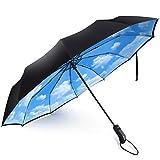Travel Umbrella,Umbrella Windproof,Double Canopy Vented Windproof Umbrella, Waterproof Auto Open/close Umbrella,Clear Umbrella,Extra Large Oversize Travel Umbrella,Double Layer Anti-UV Umbrella.
