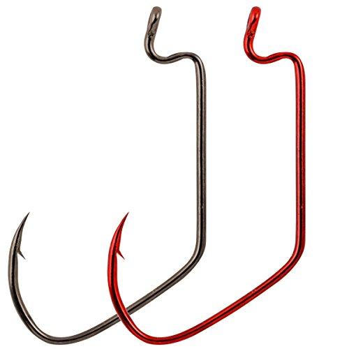 (Matzuo Sickle X-Tra Wide Gap Worm Hook, Red Chrome, 3/0 )