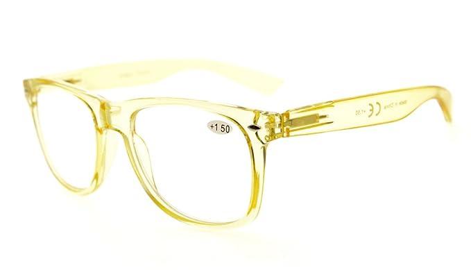 Eyekepper confortevole lettori primavera cerniere grande semplice lettura occhiali RX ingrandimento (Giallo Telaio, +3.00)