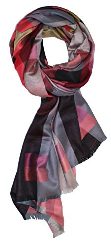 Ted and Jack - Jewel Toned Luxurious Patterned Scarf in Red -