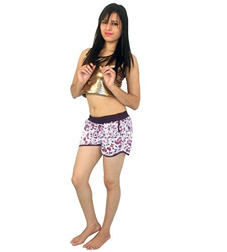 spiaggia donna vita stampa da fatte alta Esportazioni con Pantaloncini da alta a vita a mano donna a da 04x0qUpI
