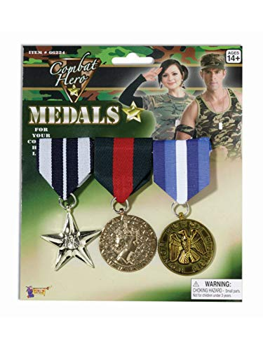 Forum Novelties Combat Hero Medals Standard -