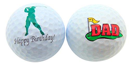 (Happy Birthday Dad Set of 2 Golf Ball Golfer Gift Pack)