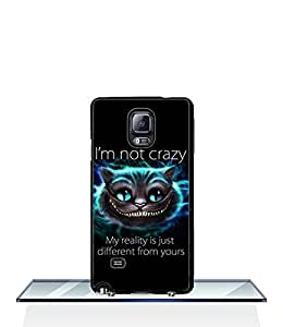 Galaxy Note 4 Funda Case Alice In Wonderland Cheshire Cat Solid Snap On Customized Impact Resistant Ultra Slim Compatible with Samsung Galaxy Note 4