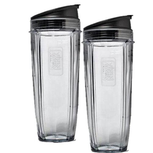 Blendin 2 Pack 32 Ounce Cup with Sip N Seal Lids,Fits Nutri Ninja Auto-iQ 1000W and Duo Blenders