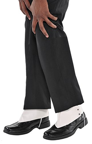 1920 Gangsters Costumes (Amscan Roaring '20s Costume Party Gangster Spats - Adult, White, One Size)