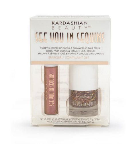 Kardashian Beauty ''See You In Sequins'' Shimmer Lip Gloss and Nail Polish Sparkler 351