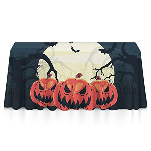 GLORY ART Halloween Horror Pumpkin Rectangle Tablecloth Water Resistant Spill Proof Table Cloth 60x120 inches for Indoor or Outdoor Parties,Dinner,Wedding, Birthday, Picnic, X-mas, Holiday]()