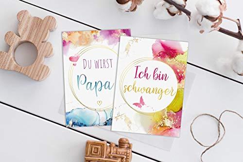 JoliCoon® 26 zauberhafte Meilensteinkarten für die Schwangerschaft - Geschenk für werdende Mama - Fotokarten für Babybauch