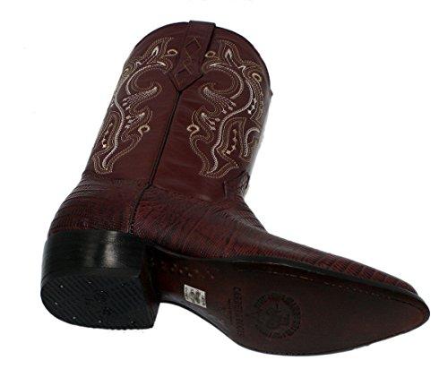 Stivali Da Cowboy In Vera Pelle Di Mucca Con Stampa Lucertola