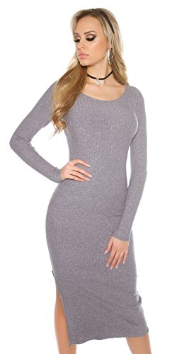 KouCla Grey Women's Pencil Dress Grey Dress KouCla Women's KouCla Pencil FazqBFrw