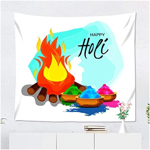 Weolucky Holi Tapestry Wide Wall Hanging Polyester Dorm Art Bedrooms Living Room Beach Blankets Curtains Design of A… |