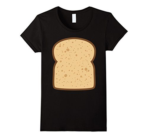 Womens Sliced Bread Toast Matching Shirts DIY Halloween Costume XL Black (Funny Halloween Toasts)