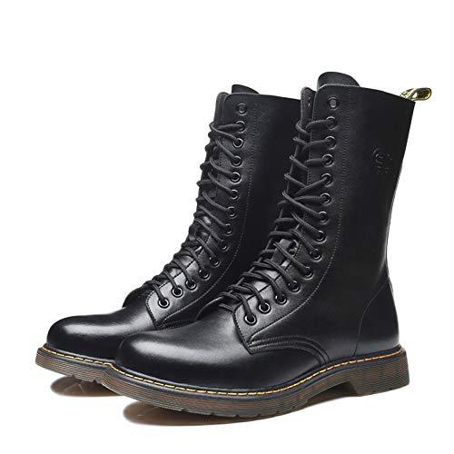 Boots Martin Stivali di Black Traspirante Desert Tendine Antiscivolo Classic Boots Oxford Peluche di in Vera Shoes per Adulti Inverno Pelle Manzo dwtwrT