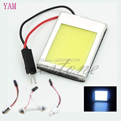 Lamp Ac 12v Festoon - NIDIBI 1Pc 6W T10 AC DC 12V COB LED Lamp Light Aluminum Dome Festoon Car Interiore Plate S08 Drop ship NEW