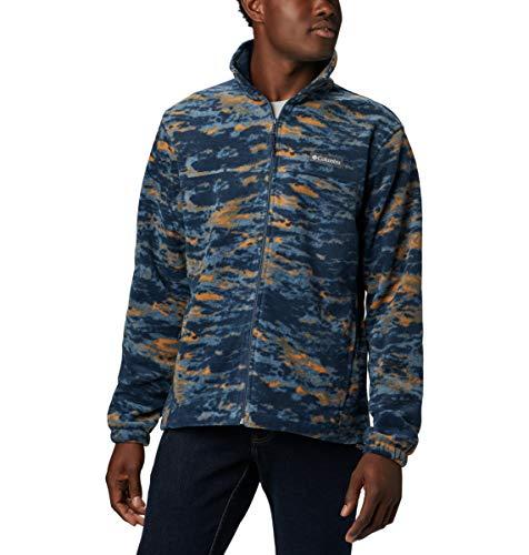 Columbia Men's Steens Mountain Printed Jacket, Collegiate Navy Texture camo, Small (Jacket Columbia Camo Mens)