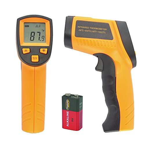 CyberTech Non-Contact Industrial IR Infrared Digital Thermometer Gun with Red Laser Targeting
