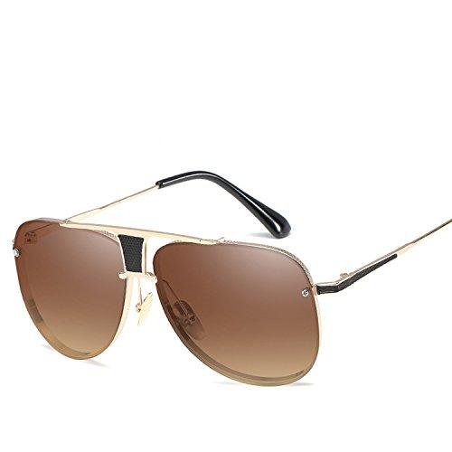 sunglasses Modern outdoor's cartoon custom-made sunglasses,Gold frame gradient ()