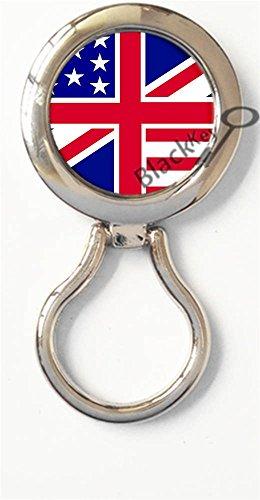 BlackKey United Kingdom UK British Flag Magnetic Metal Eyeglass Badge Holder, Eye Glass Holding Brooch - Police Sunglasses Uk